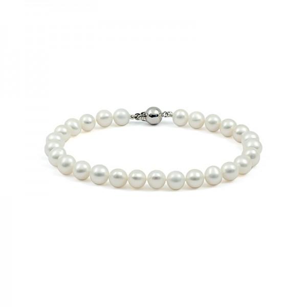 Natural white pearl bracelet
