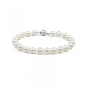 Natural pearl bracelet with a lock in gold 375 °