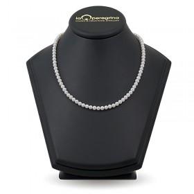 Ожерелье из белого натурального жемчуга АА+ 6,0 - 7,0 мм