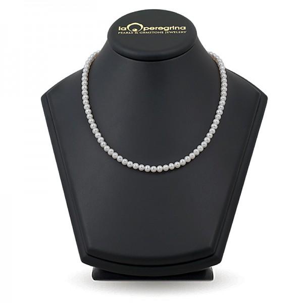 Ожерелье из белого пресноводного жемчуга ААА 6,0 - 7,0 мм