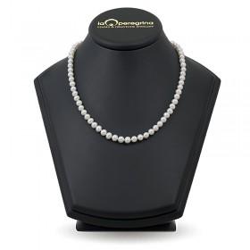 Ожерелье из белого натурального жемчуга АА+, 7,5 - 8,0 мм