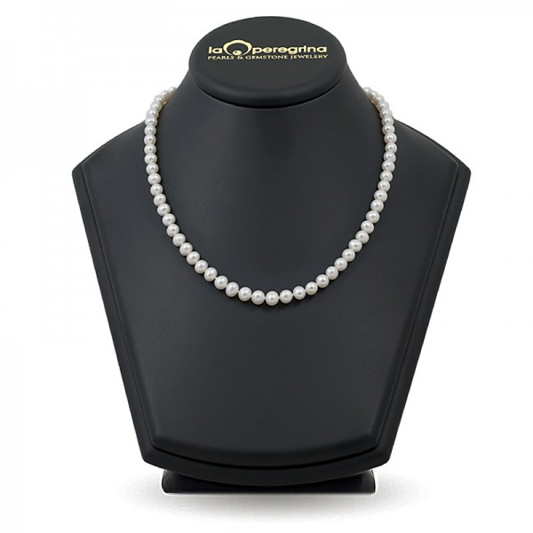 Natural pearl necklace AA +, 7.5 - 8.0 mm