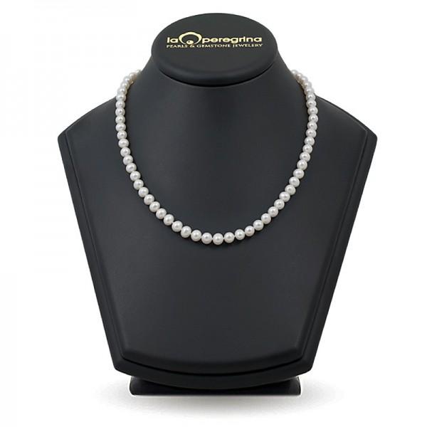 Ожерелье из белого пресноводного жемчуга АА+ классического размера 7,5 - 8,0 мм