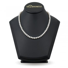 Necklace made of white natural pearls AAA 7.5 - 8.0 mm
