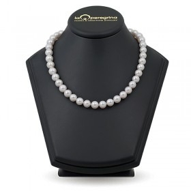 Necklace made of white freshwater pearls AA + large size 10.0 - 11.0 mm