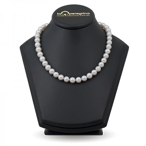 Ожерелье из белого пресноводного жемчуга АА+ крупного размера 10,0 - 11,0 мм