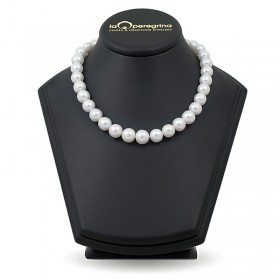 Necklace made of white natural pearls AA + 12.0 - 12.5 mm