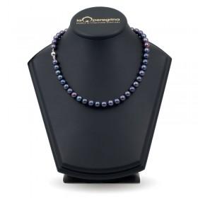 Ожерелье из черного натурального жемчуга ААА 9,0 - 9,5  мм