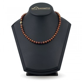 Ожерелье из шоколадного пресноводного жемчуга классического размера 7,5 - 8,0 мм