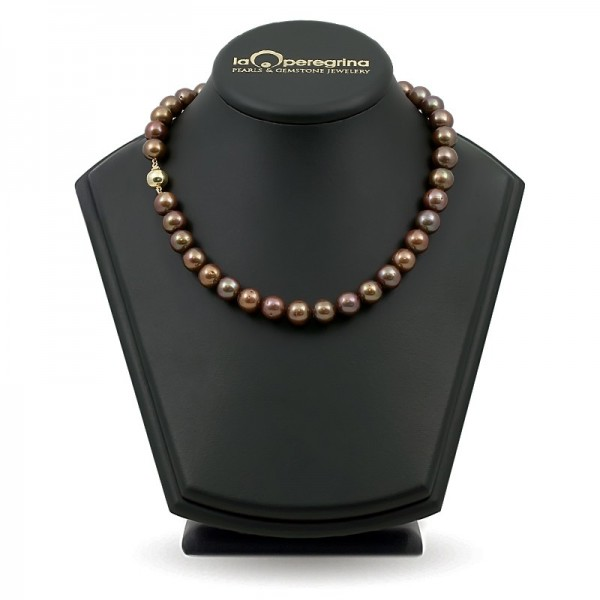 Ожерелье из натурального жемчуга ААА, 9,0 - 9,5  мм