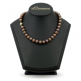 Chocolate Natural Pearl Necklace 10.0 - 10.5 mm