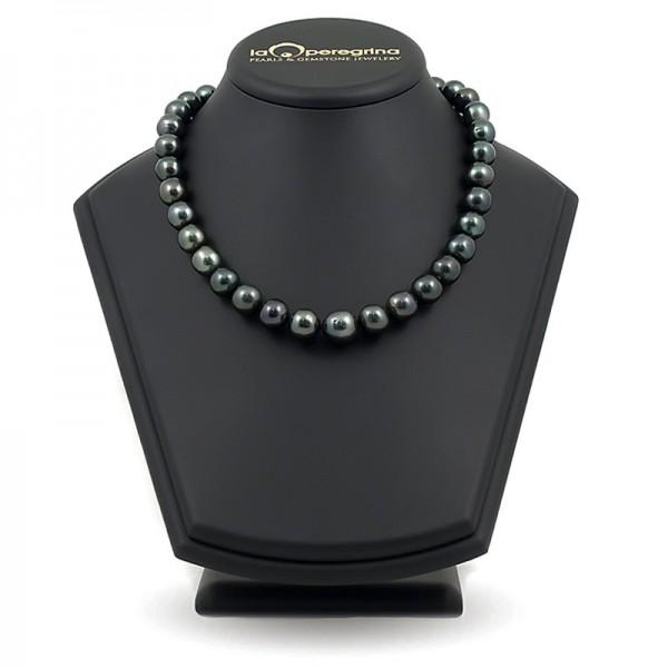 Ожерелье из морского таитянского жемчуга черного цвета 13,0 - 14,0 мм