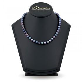 Ожерелье из черного натурального жемчуга ААА 8,0 - 8,5 мм