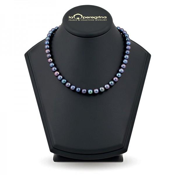 Ожерелье из натурального жемчуга ААА, 8,0 - 8,5  мм