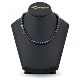 Ожерелье из черного натурального жемчуга АА+ 7,5 - 8,0 мм