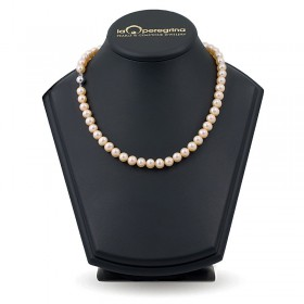 Necklace made of pink natural pearls AA + 7.5 - 8.0 mm
