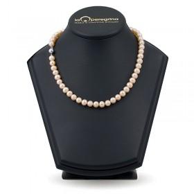 Ожерелье из розового натурального жемчуга АА+ 7,5 - 8,0 мм