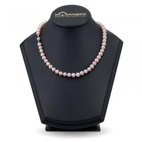 Ожерелье из лавандового натурального жемчуга АА+ 7,5 - 8,0 мм