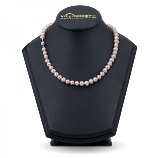 Ожерелье из лавандового натурального жемчуга ААА 7,5 - 8,0 мм