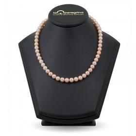 Ожерелье из розового пресноводного жемчуга элитного размера 9,0 - 9,5 мм