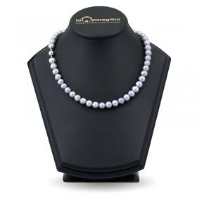 Ожерелье из натурального жемчуга цвета металлик ААА 9,0 - 9,5 мм