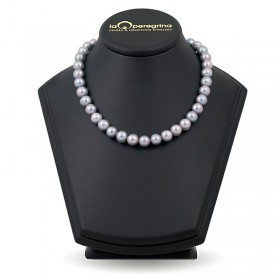 Natural pearl necklace in metallic color 10.0 - 10.5 mm