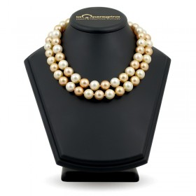 Ожерелье из морского жемчуга золотого цвета