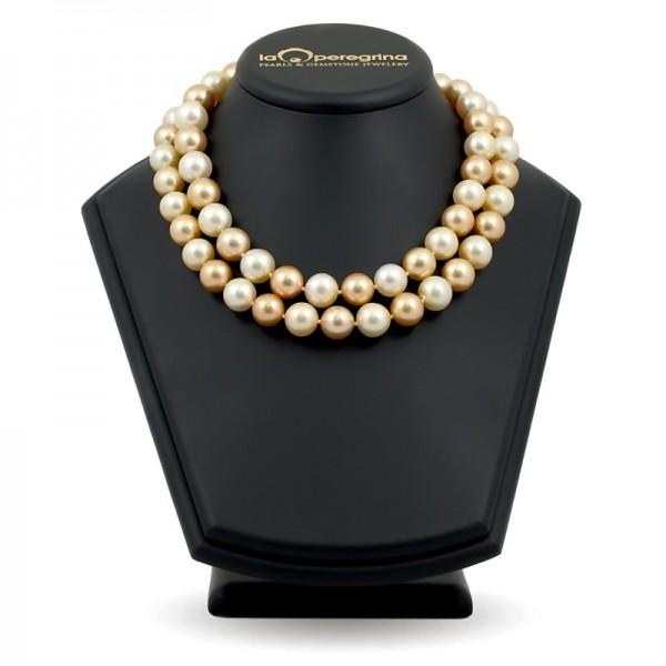 """Ожерелье из морского жемчуга золотого цвета и цвета """"шампань"""""""