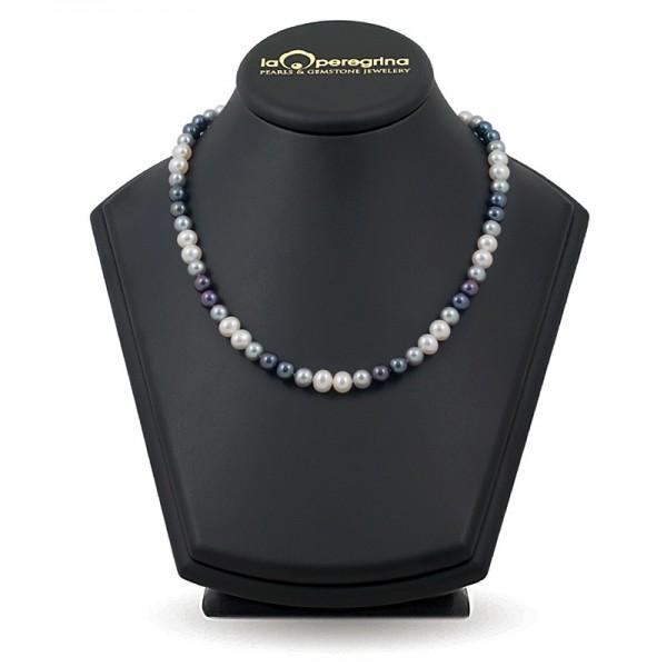 Ожерелье мультиколор из натурального жемчуга 7,5 - 8,0 мм