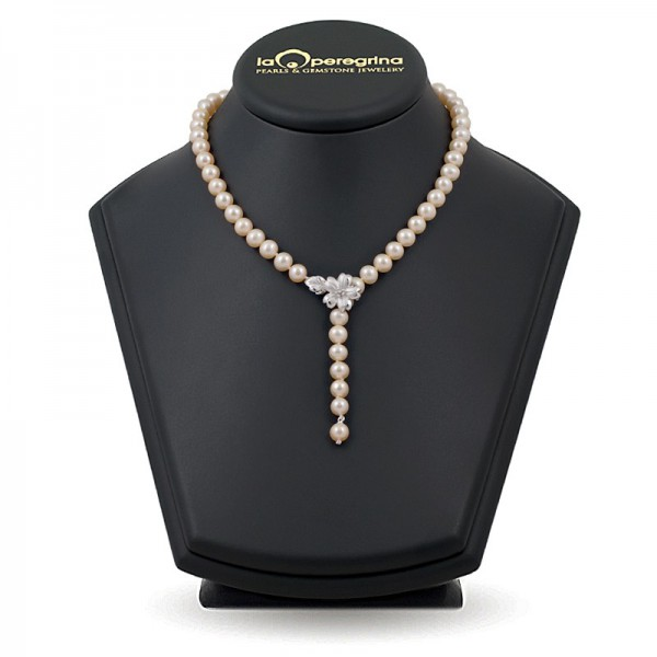 Necklace made of natural pearls AAA 7.5 - 8.0 mm