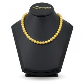 Ожерелье из золотого натурального жемчуга ААА+ 9,0 - 9,5 мм