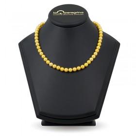 Ожерелье из золотого натурального жемчуга ААА+ 7,5 - 8,0 мм
