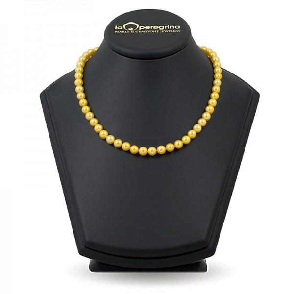 Ожерелье из белого пресноводного жемчуга ААА классического размера 7,5 - 8,0 мм
