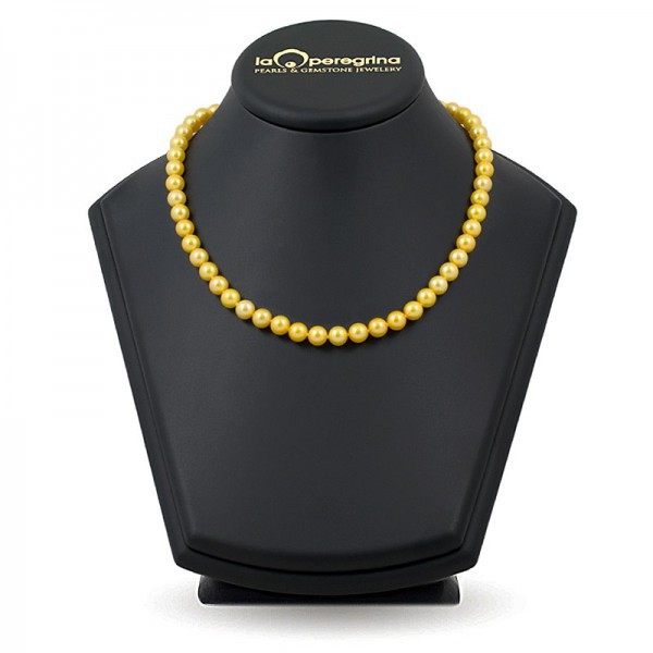 AAA Golden Natural Pearl Necklace + 7.5 - 8.0 mm