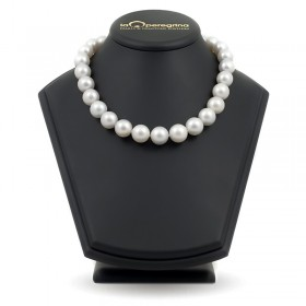 Necklace made of large white pearls of the southern seas AA + 14.5 - 16.0 mm