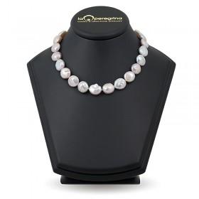 "Ожерелье из натурального жемчуга ""барокко"" формы монеты 14,0 - 15,0 мм"