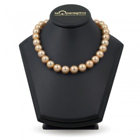 Necklace of large golden pearls of the southern seas AA + 13.0 - 14.0 mm