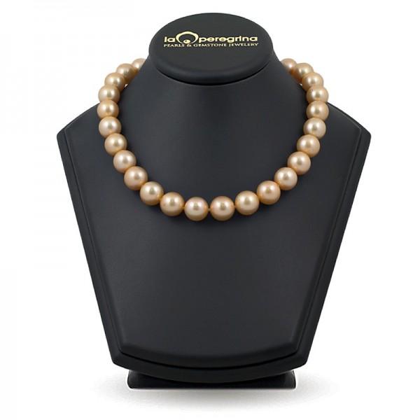 Ожерелье из крупного золотого жемчуга южных морей АА+ 13,0 - 14,0 мм