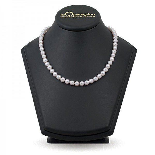 Necklace made of natural sea pearls Akoya 7.5 - 8.0 mm