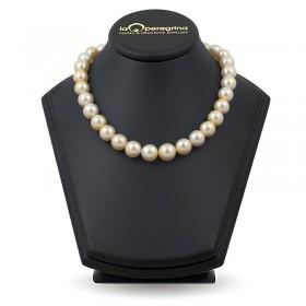 """Ожерелье из крупного жемчуга южных морей АА+ 13,0 - 14,0 мм цвета """"шампань"""""""